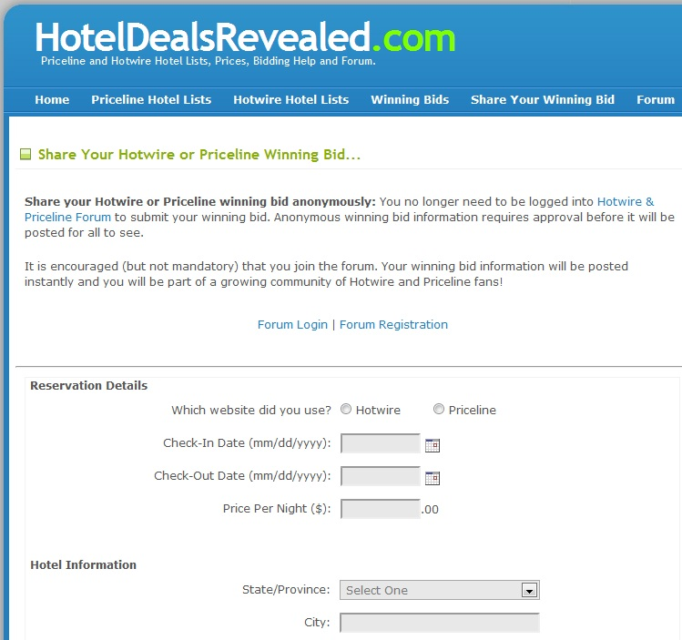 "I'm a huge fan of Priceline's ""name-your-own-price"" system for booking hotels. The challenge of choosing a competitive bid, the anticipation of scoring a great deal, the mystery of not knowing which hotel will accept my bid and the uncertainly of if and when the bid will be accepted all contribute to the rush I get from bidding on."
