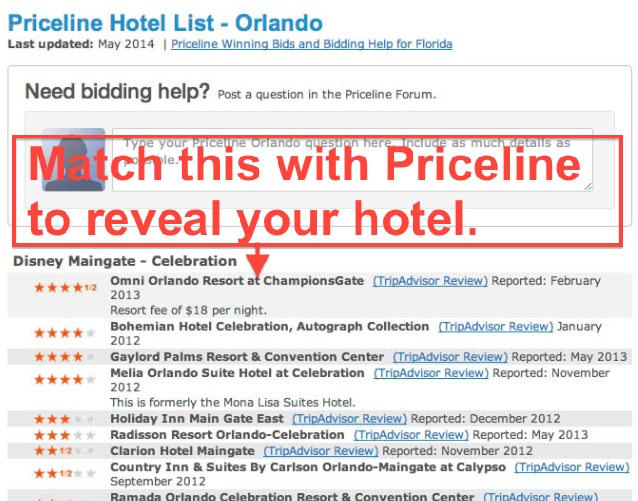 PRICELINE HOTEL LIST - New York. Hotel Lists > Priceline Hotel List - New York. Please Click the Following Link to Open Priceline in a new window and gain access to our hotel lists: Priceline. Select a Region Below: Select a Region. New York. Albany. Allegany. Auburn. Ballston Spa. Binghamton. Buffalo - Niagara Falls. Cooperstown. Corning.