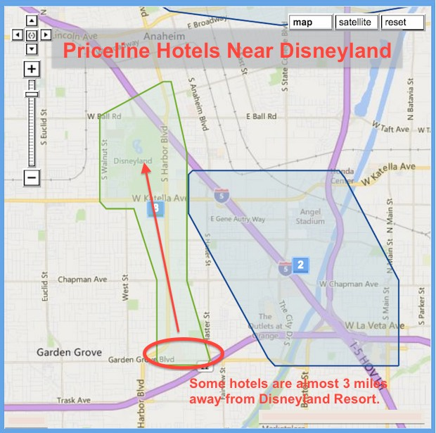 Priceline Hotels Near Disneyland In Anaheim California Maps