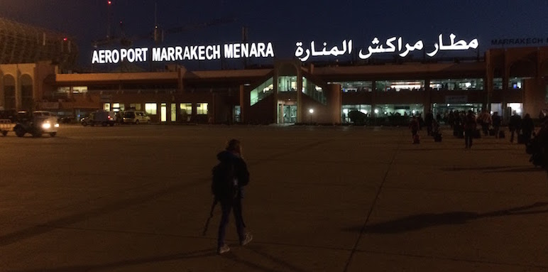 Arriving at the Marrakesh Airport