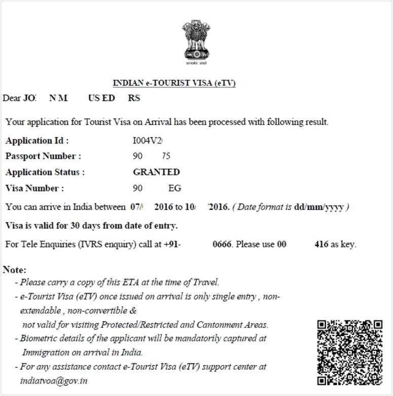 Travel To India Evisa