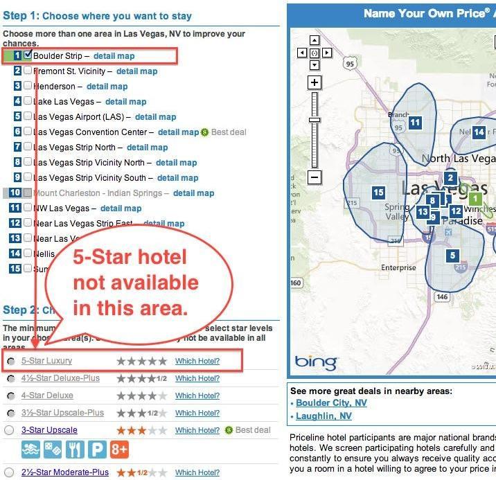 Priceline Bidding Las Vegas 5 Stars